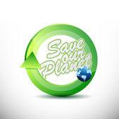 Eco friendly 360 design concept illustration — Stock Photo