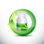 Medicine 360 design concept illustration design — Stock Photo