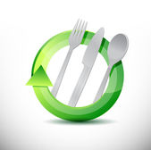 Restaurant 360 design concept illustration design — Stock Photo