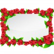 Flower red frame illustration design — Stock Photo #26393263