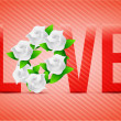Red color Love flowers illustration designs — Stock Photo