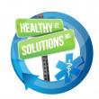 Healthy solution road symbol illustration — Stock Photo