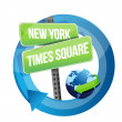 Стоковое фото: New York, Times square road symbol illustration