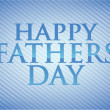 Stock Photo: Happy fathers day card illustration design