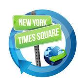 Nueva york, times square ilustración de símbolo de carretera — Foto de Stock