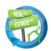 Real estate road symbol illustration design — Stock Photo