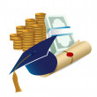 Profits after graduation concept — Foto Stock