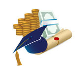 Profits after graduation concept — Stock Photo