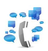 A cellphone chat concept illustration design — Stok fotoğraf