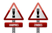 Beware of Vampires and Zombies illustration — Stock Photo