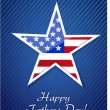 Stock Photo: Patriotic happy fathers day proud card