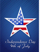 七月四日,美国独立日概念 — 图库照片