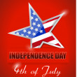 Independence Day 4 of July, star flag — Stock Photo #26745451
