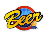 Beer poster sign seal illustration design — Stock Photo