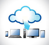 Electronic network, cloud computing illustration — Stock Photo