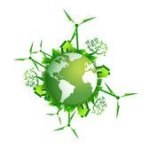拯救地球生态概念图 — 图库照片