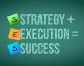 Strategy execution to success concept illustration — Stock Photo
