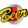 Stock Photo: Belgium Beer poster sign seal illustration
