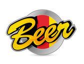 Belgium Beer poster sign seal illustration — Stock Photo