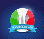Tradiční italská restaurace, nabídka obrázek — Stock fotografie
