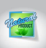 Natürliche grüne siegel kennzeichnen abbildung — Stockfoto