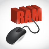 Ram sign connected to mouse illustration design — Stock Photo