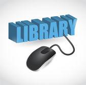 Libreria segno e mouse illustrazione design — Foto Stock