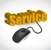 Service sign and mouse illustration — Stock Photo