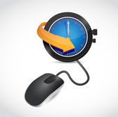 Watch sign and mouse illustration design — Stock Photo