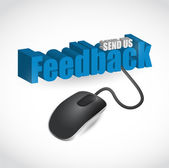 Feedback sign and mouse illustration design — Stock Photo
