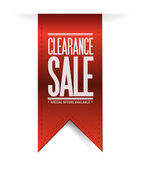 Clearance sale red banner illustration design — Stock Photo