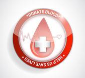 Donate blood. help us save lives illustration — Stock Photo