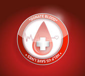 Donate blood. help us save lives illustration — Стоковое фото