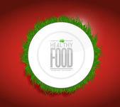 Zdravé jídlo koncept ilustrace design graf — Stockfoto