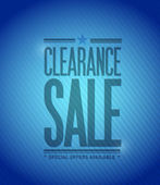 Clearance sale concept illustration design — Stock Photo