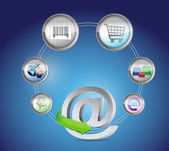 At E-Commerce and Online Shopping Concept — Stock Photo