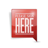 Please sign here pin point marker — Stock Photo