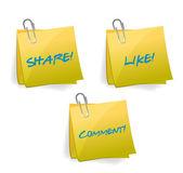 Social media signs illustration design — Stock Photo