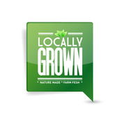 Locally grown food sign illustration design — Stockfoto
