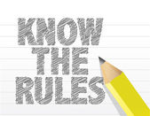 Know The Rules written on a blank notepad paper — Stock Photo