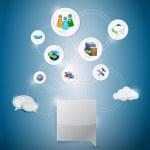 Online network settings illustration design — Stock Photo #27283157