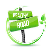 Healthy road street sign illustration design — Stock Photo