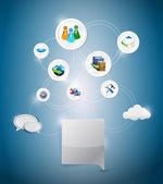 Online network settings illustration design — Stock Photo