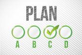 Choosing plan c illustration design — Stock Photo