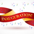 Stock Photo: Inauguration red waving ribbon banner