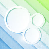 Blue and green paper lines and circles — Stock Photo