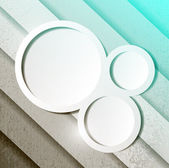 Aqua green paper lines and circles — Stock Photo