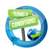 Terms and conditions road sign illustration — Stock Photo