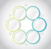 Circular Infographics template illustration — Stock Photo