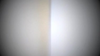 Virando páginas brancas - livro antigo — Vídeo Stock